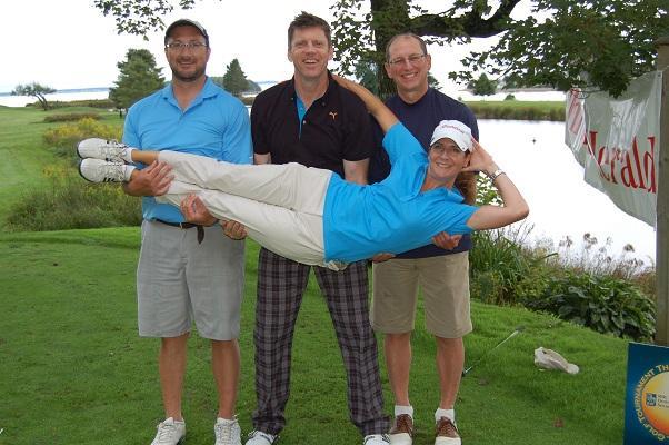 happy golfers