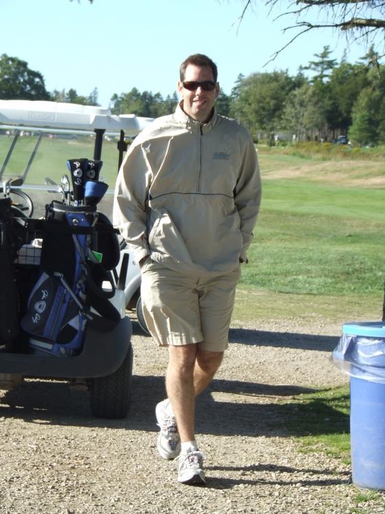 Man and Golf Cart
